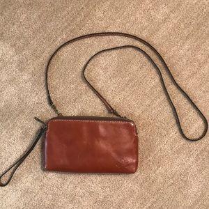 Patricia Nash leather crossbody or wristlet purse